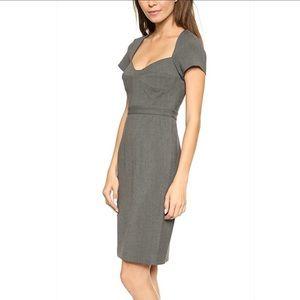 Diane Von Furstenberg DVF Grey Work Dress size XXS